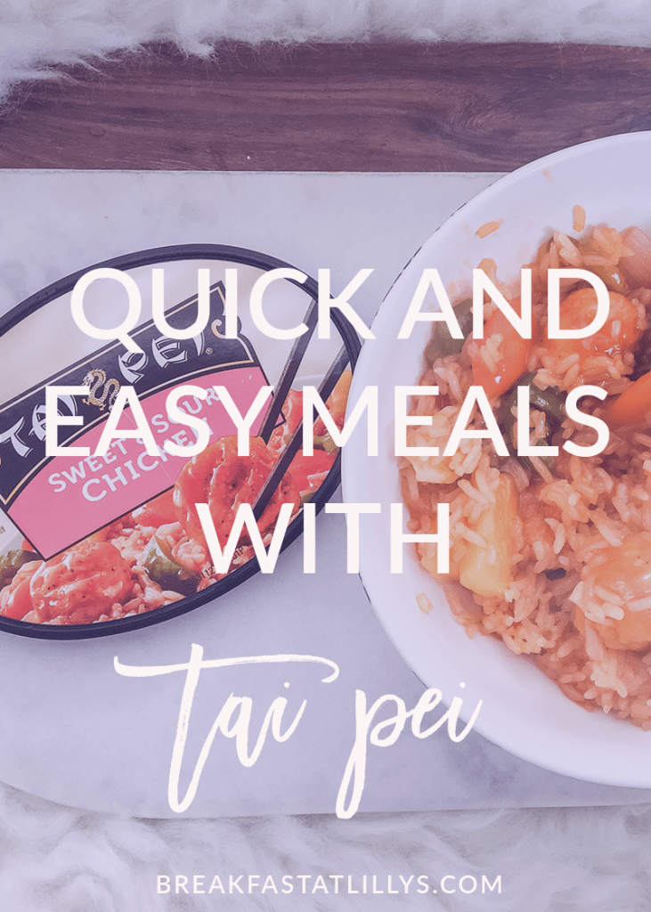 Looking for a quick and easy meal to add to your routine? Then you have to try Tai Pei!