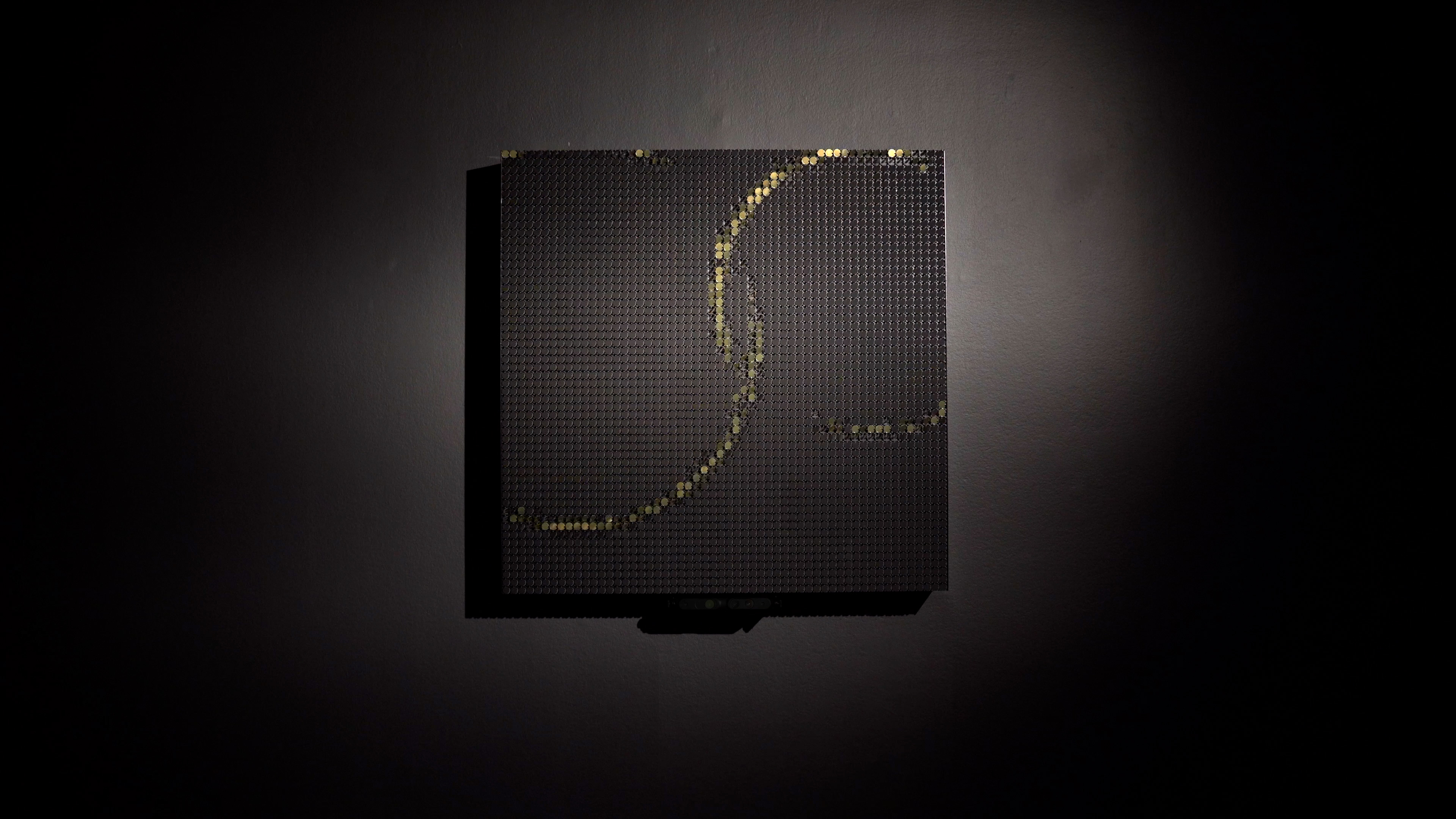 Flip-Discs 4 in Gold ripple visualization
