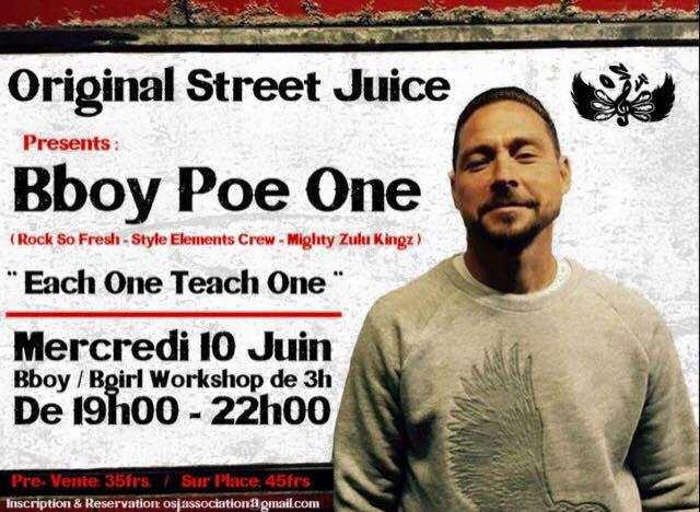 Workshop Bboy Poe One