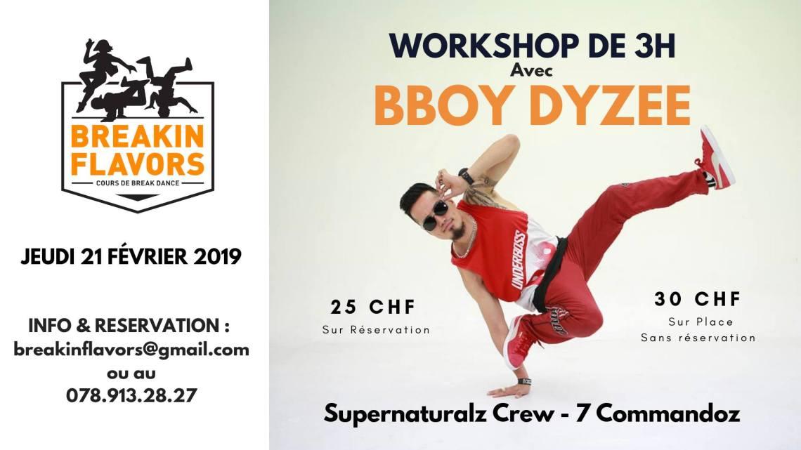Workshop Bboy Dyzee