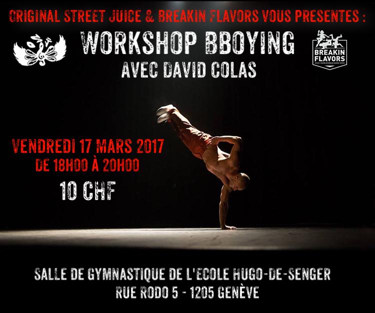 Workshop Bboy David Colas