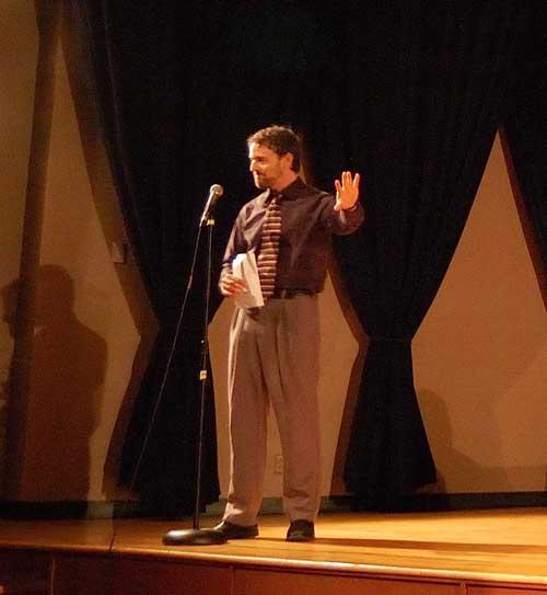 Aron Bernstein at graduate recital