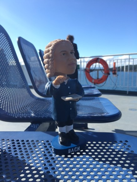 Bobblehead Bach on the ferry