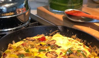 Roasted Vegetable Frittata With Goat Cheese