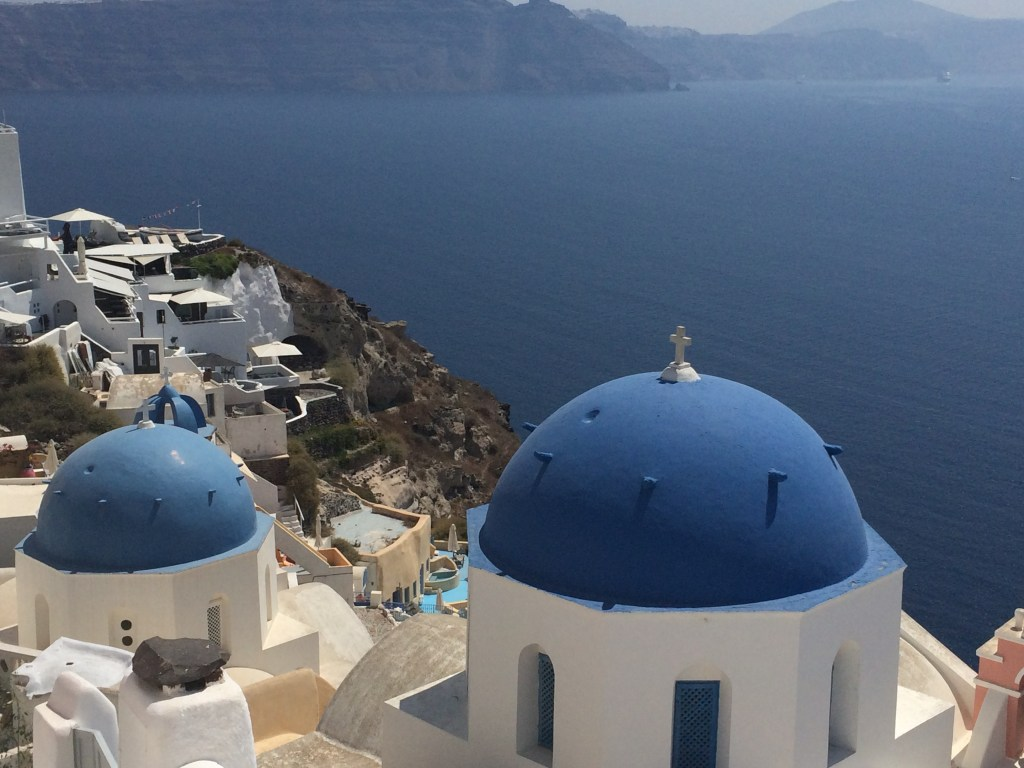 One of the most famous views in Greece