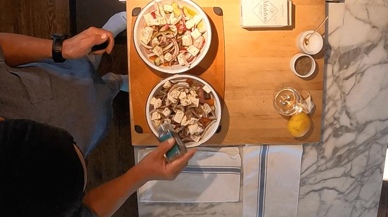 Classic Greek Salad, Adding Oregano