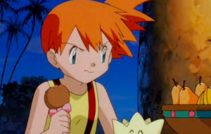 Pokemon The Movie 2000 Misty Eating