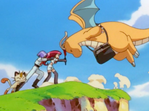Pokemon The First Movie Team Rocket and Dragonite
