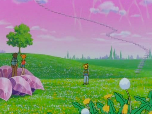 Pokemon 3 The Movie Flower Field with Crystal Stairs