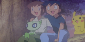 Pokemon 4Ever Ash Ketchum, Samuel, Pikachu and Celebi