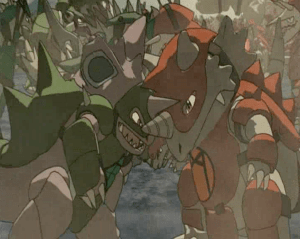 Pokemon: Lucario and the Mystery of Mew red army and green army