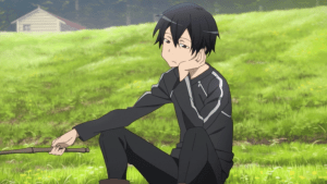 Sword Art Online Kirito fishing