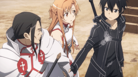 Sword Art Online Kirito, Asuna and Kuradeel