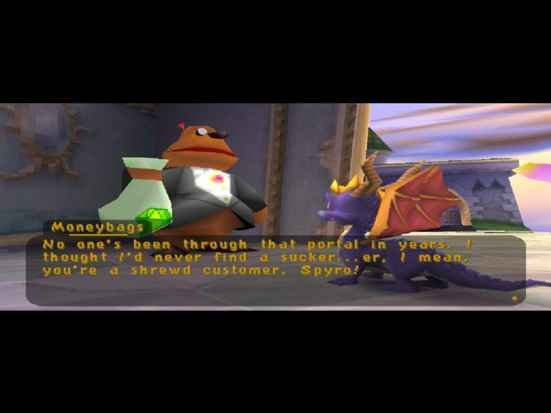 Spyro 2: Ripto's Rage (Gateway to Glimmer) Moneybags the bear