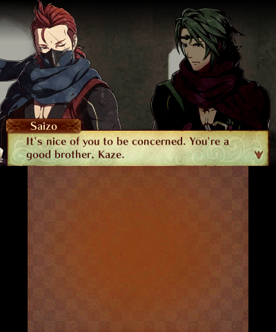 Fire Emblem Fates: Birthright Saizo and Kaze support