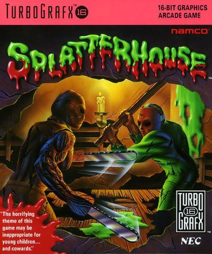 Splatterhouse Turbografx-16 game cover