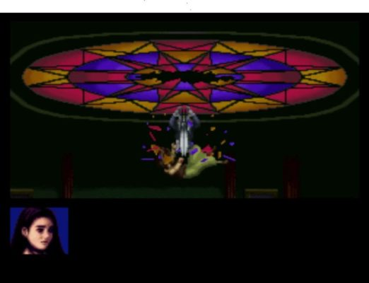 Clock Tower: The First Fear Scissorman Bobby Barrows stained window