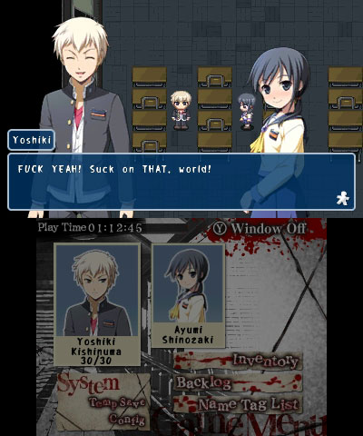 Corpse Party 3DS Yoshiki fuck yeah suck on that world