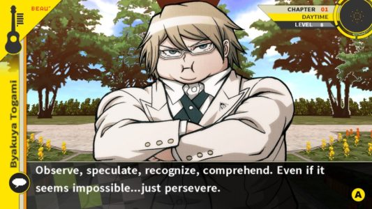 Danganronpa 2: Goodbye Despair fat Byakuya Togami ultimate impostor