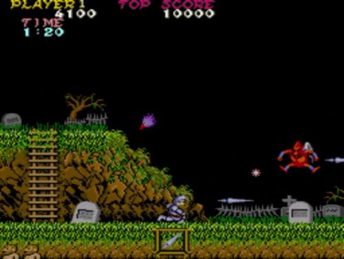 Ghosts 'n Goblins arcade gameplay