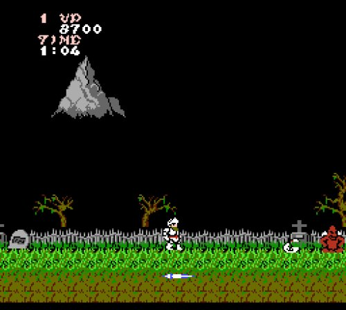 Ghosts 'n Goblins NES gameplay