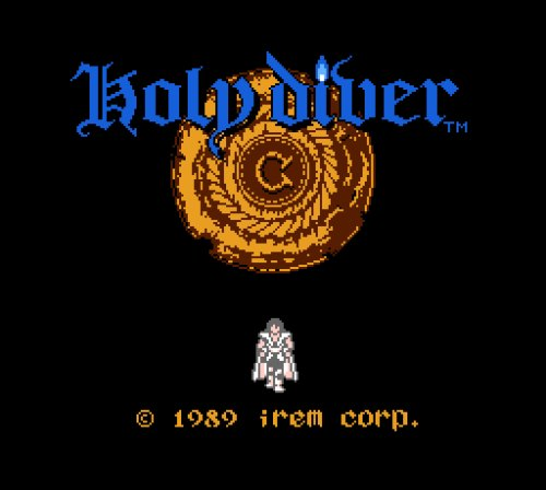 Holy Diver Famicom title screen