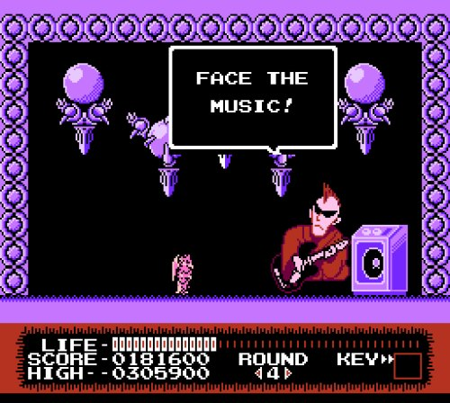 Monster Party NES face the music