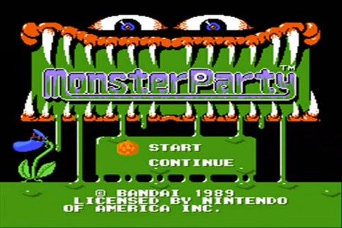 Monster Party U.S. title screen