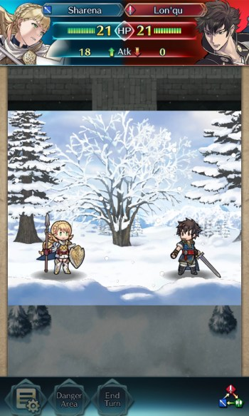 Fire Emblem Heroes Sharena vs Lon'qu