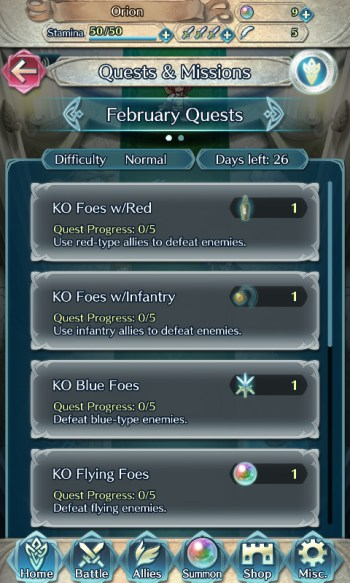 Fire Emblem Heroes quests