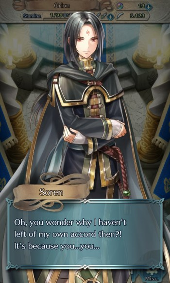 Fire Emblem Heroes possibly gay Soren monologue