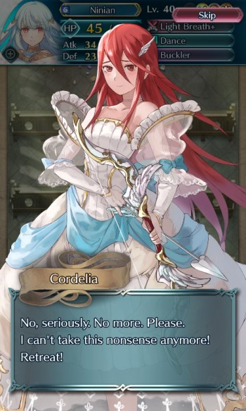 Fire Emblem Heroes bride Cordelia no more