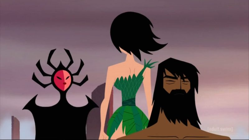 Samurai Jack season 5 old Jack, Ashi and Cult of Aku priestess