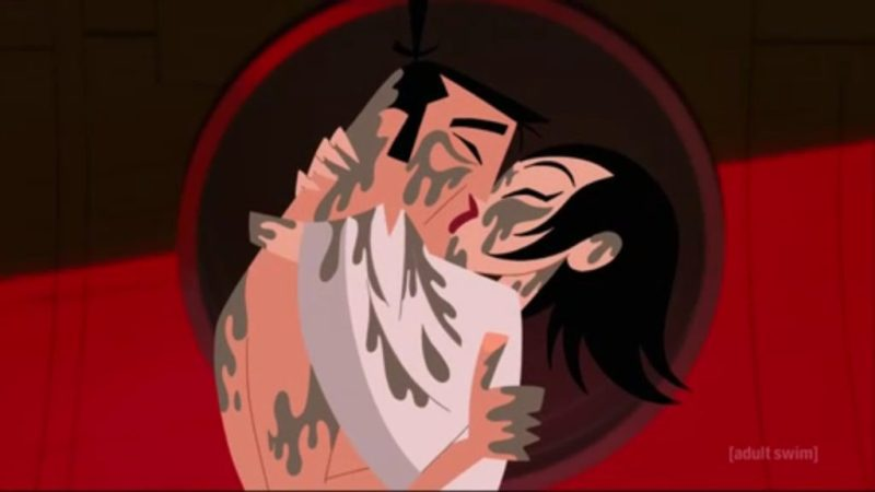 Samurai Jack season 5 Jack and Ashi kiss