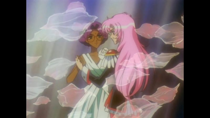 Revolutionary Girl Utena anime Utena Tenjou and Anthy Himemiya dancing