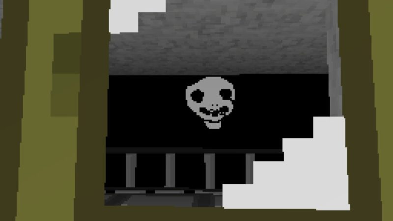 IMSCARED: A Pixelated Nightmare White Face