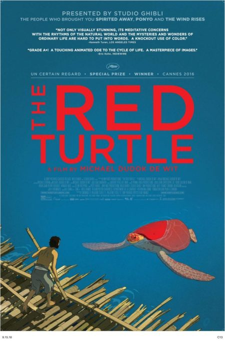 The Red Turtle (La Tortue Rouge) animated movie poster