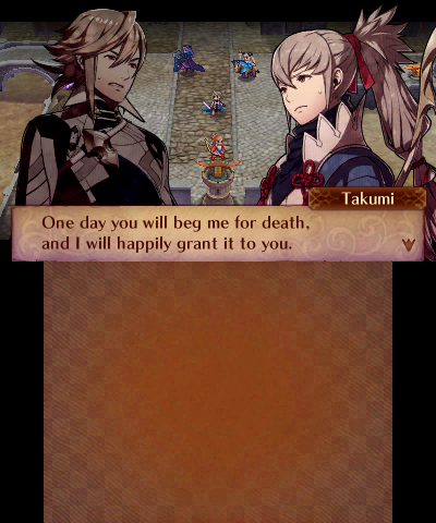 Fire Emblem Fates: Conquest Corrin and Takumi