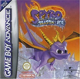 Spyro: Season of Ice GBA game cover art