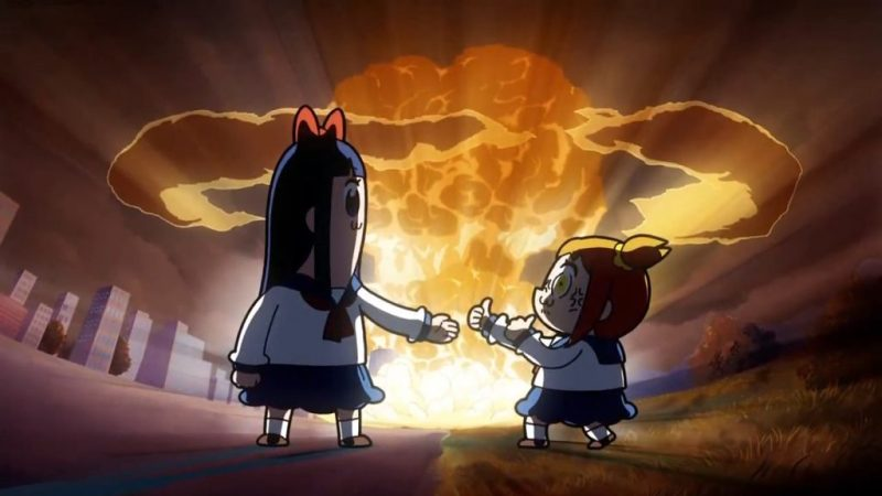 "Pop Team Epic anime ""Your Name"" reference"