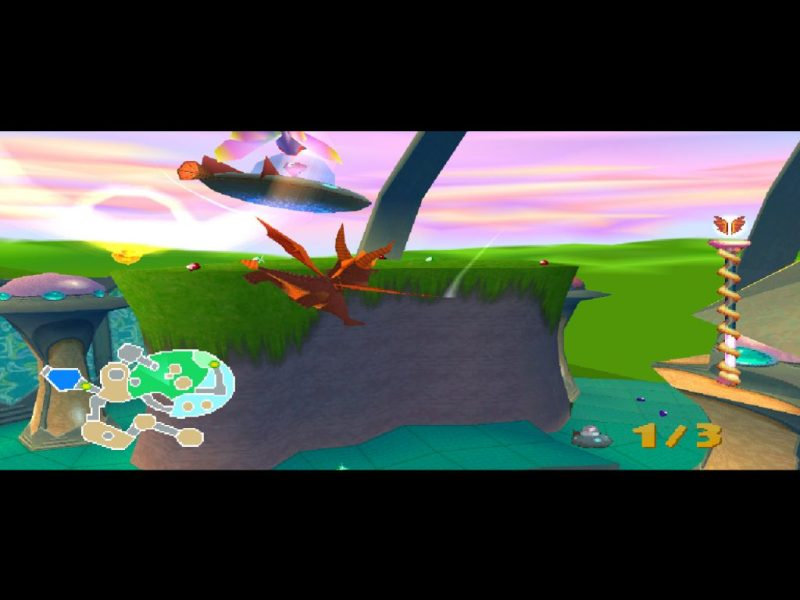 Spyro 2: Ripto's Rage (Gateway to Glimmer) gameplay Metropolis superfly-superflame combo powerup