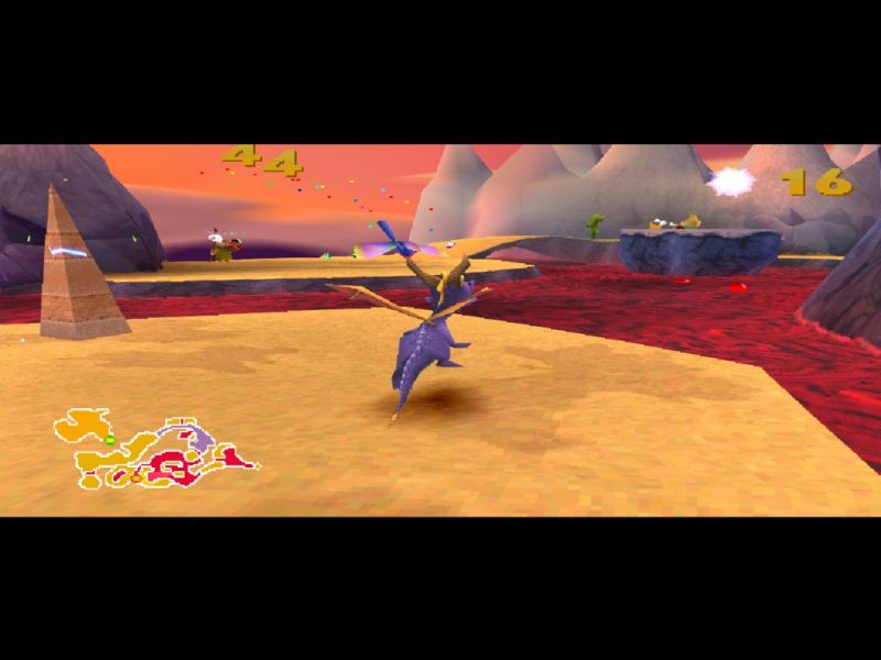 Spyro 2: Ripto's Rage (Gateway to Glimmer) gameplay Skelos Badlands