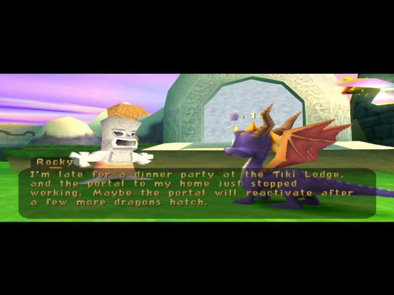 Spyro: Year of the Dragon PS1 gameplay Sunrise Spring