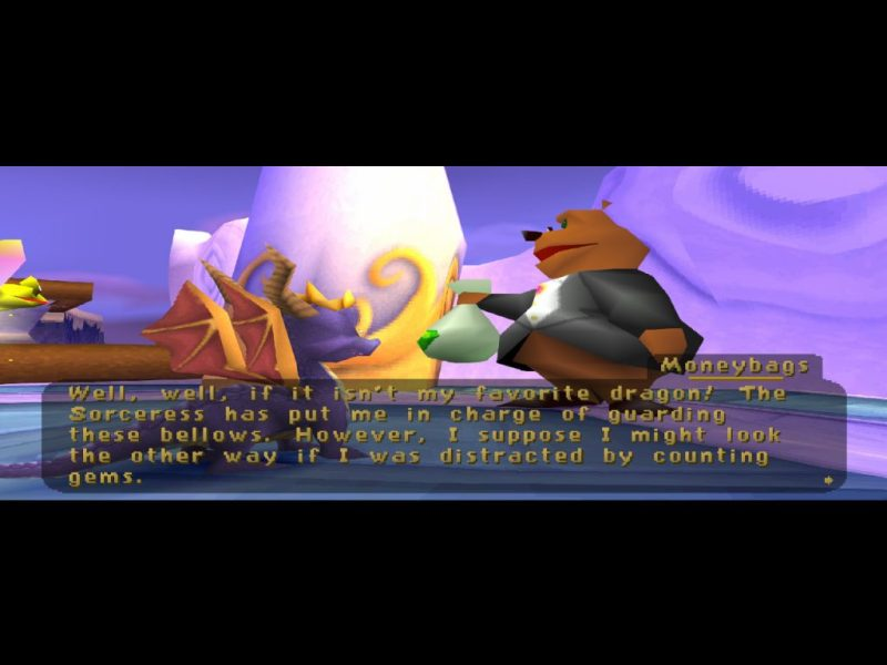 Spyro: Year of the Dragon PS1 Moneybags
