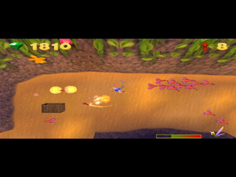 Spyro: Year of the Dragon PS1 gameplay Sparx the Dragonfly Crawdad Farm