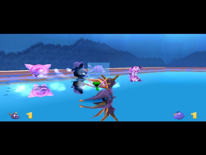 Spyro: Year of the Dragon PS1 gameplay Frozen Altars cat hockey