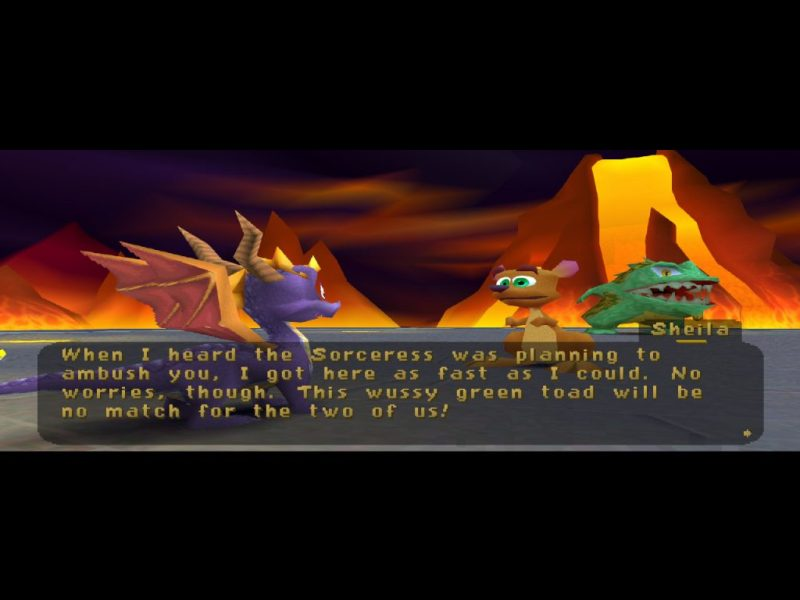 Spyro: Year of the Dragon PS1 Sheila Buzz's Dungeon