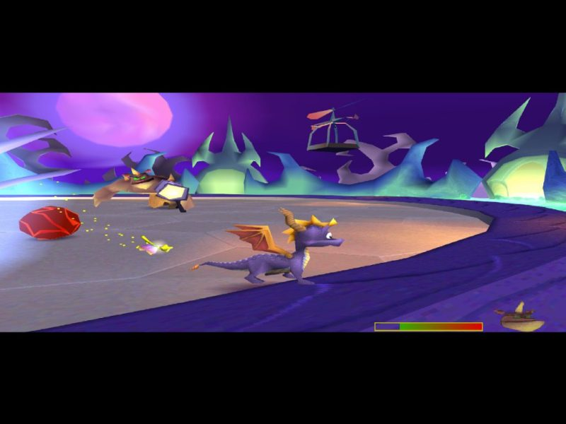 Spyro: Year of the Dragon PS1 gameplay Spike's Arena