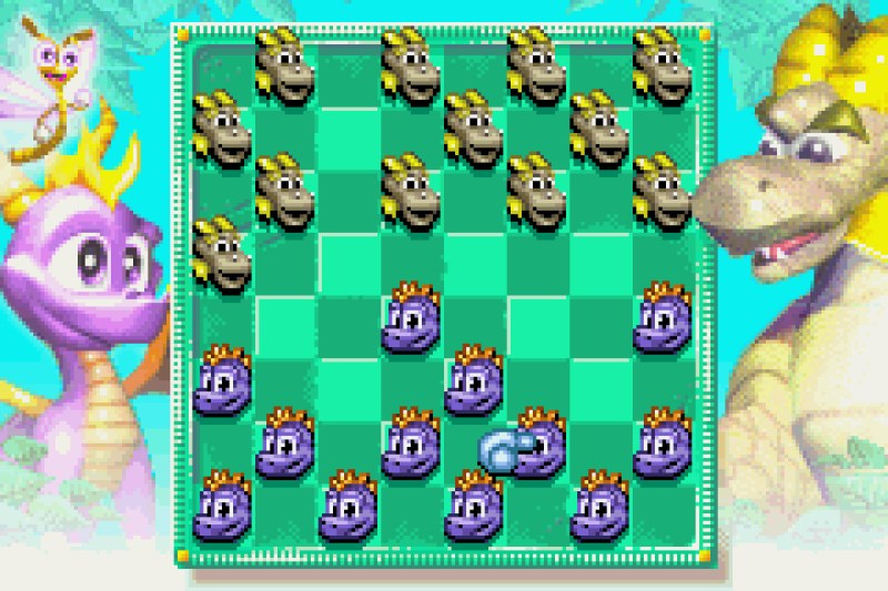 Spyro 2: Season of Flame Dragon Draughts checkers