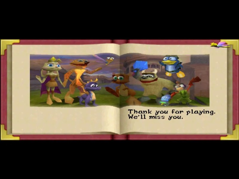 Spyro: Year of the Dragon PS1 epilogue ending